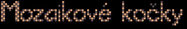 Mozaikové kočky
